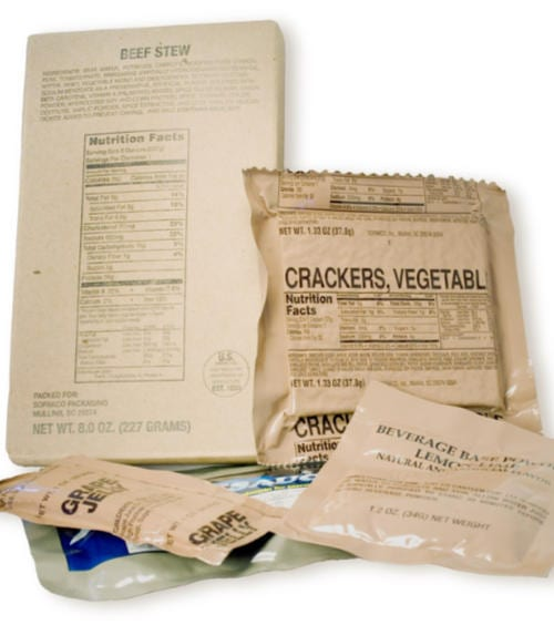 MRE meal