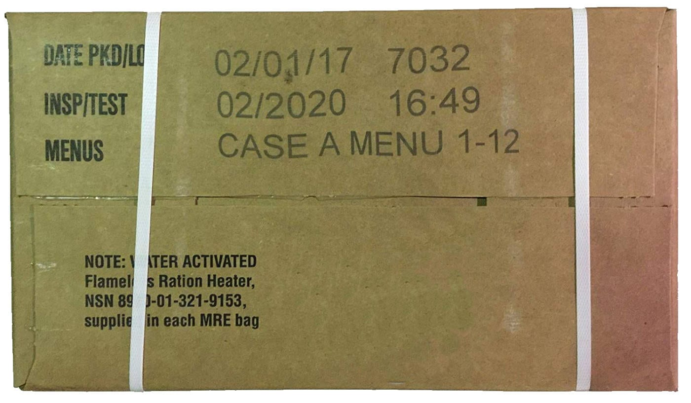 MRE case pack date